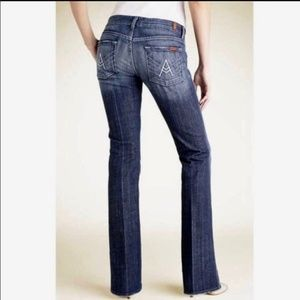 7 For All Mankind A Pocket Flare Contrast Jeans 25